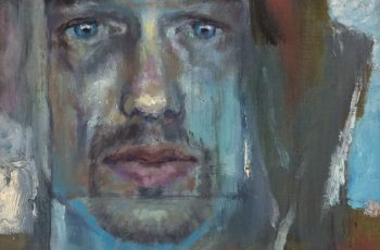 painting of a man's face