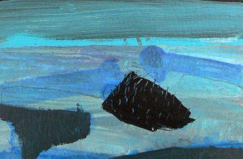 Malcolm Ashman - Islands acrylic on paper 28x25cm £750