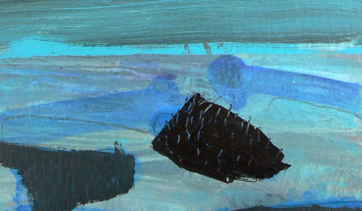 Malcolm Ashman - Islands acrylic on paper 28x25cm £750