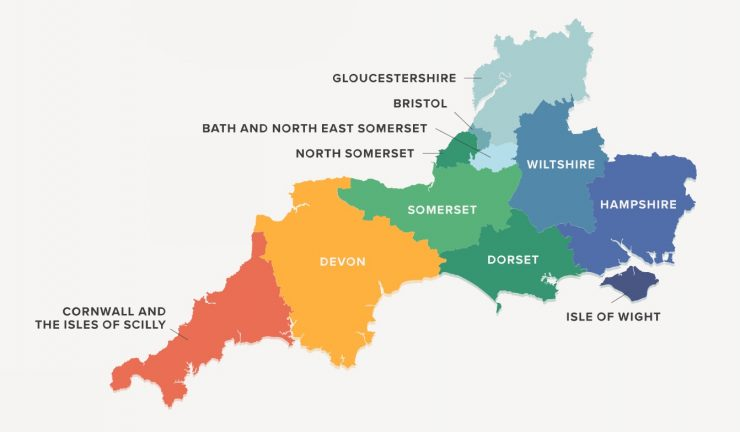 South West Map