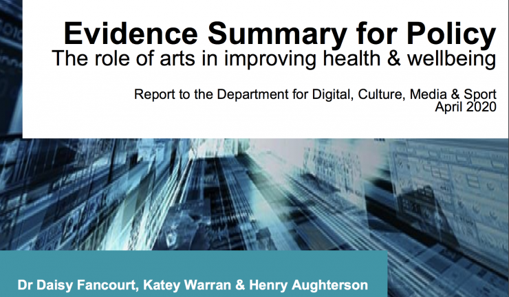 Evidence summary for policy: The role of arts in improving health and wellbeing