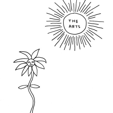 Illustration by David Shrigley for the All-Party Parliamentary Group on Arts, Health and Wellbeing Creative Health report.