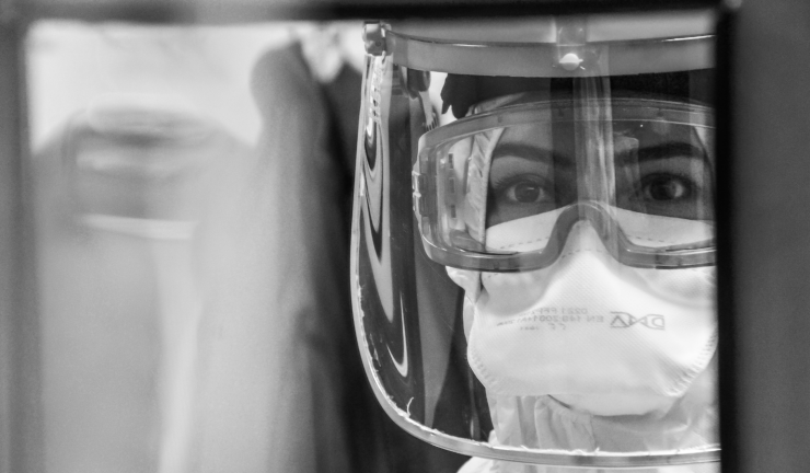 Image of someone in PPE